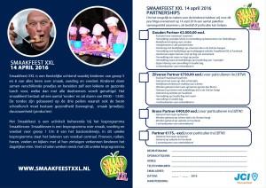 Partner pakketten SMAAKFEEST XXL 2016